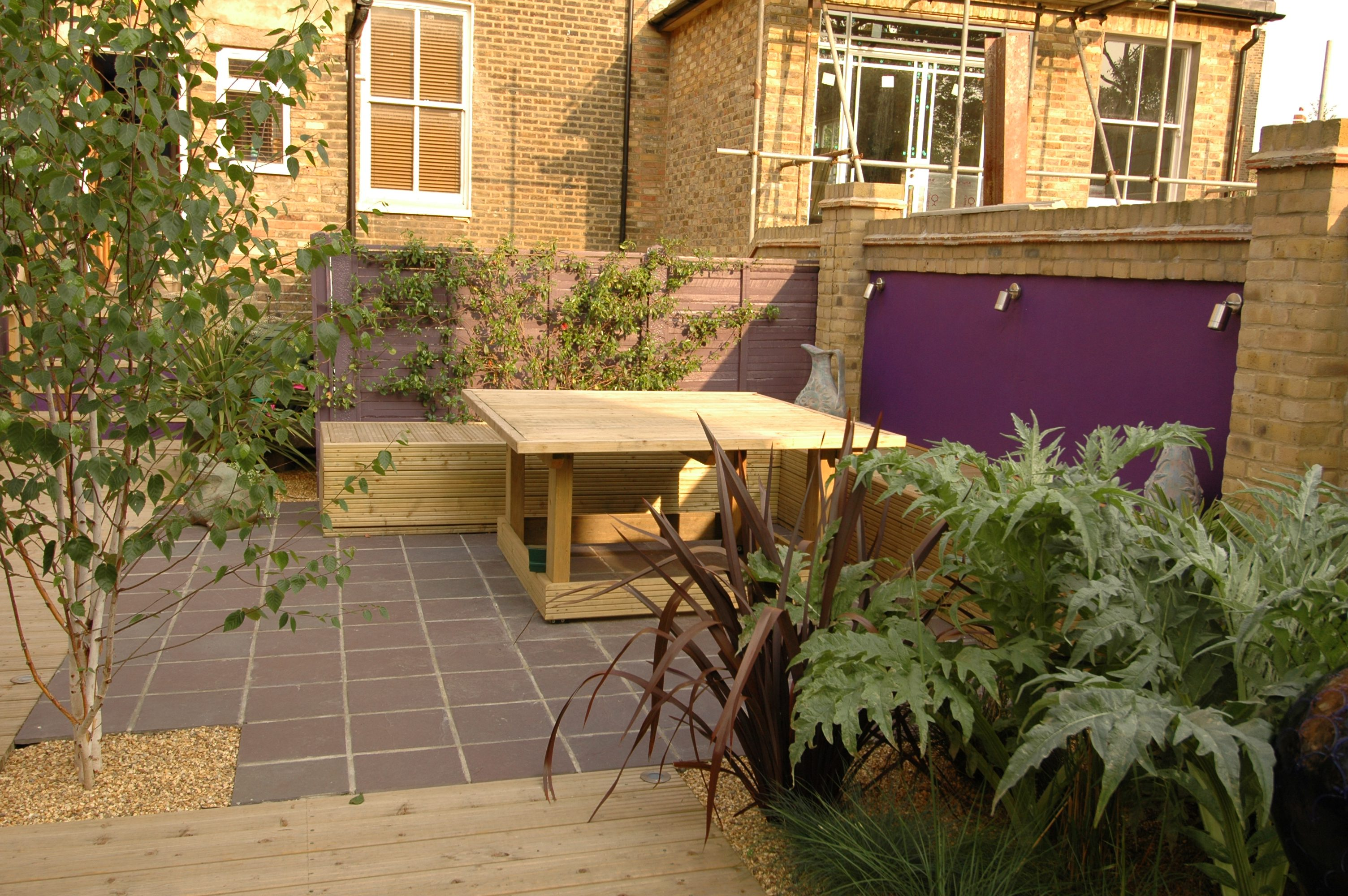 Attractive Garden Design North London Picture Collection - Brown ...