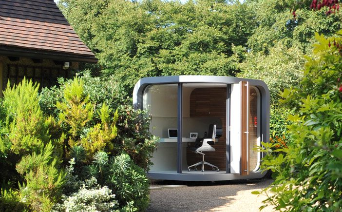 New to the shed garden pods earth designs garden design for Best garden rooms