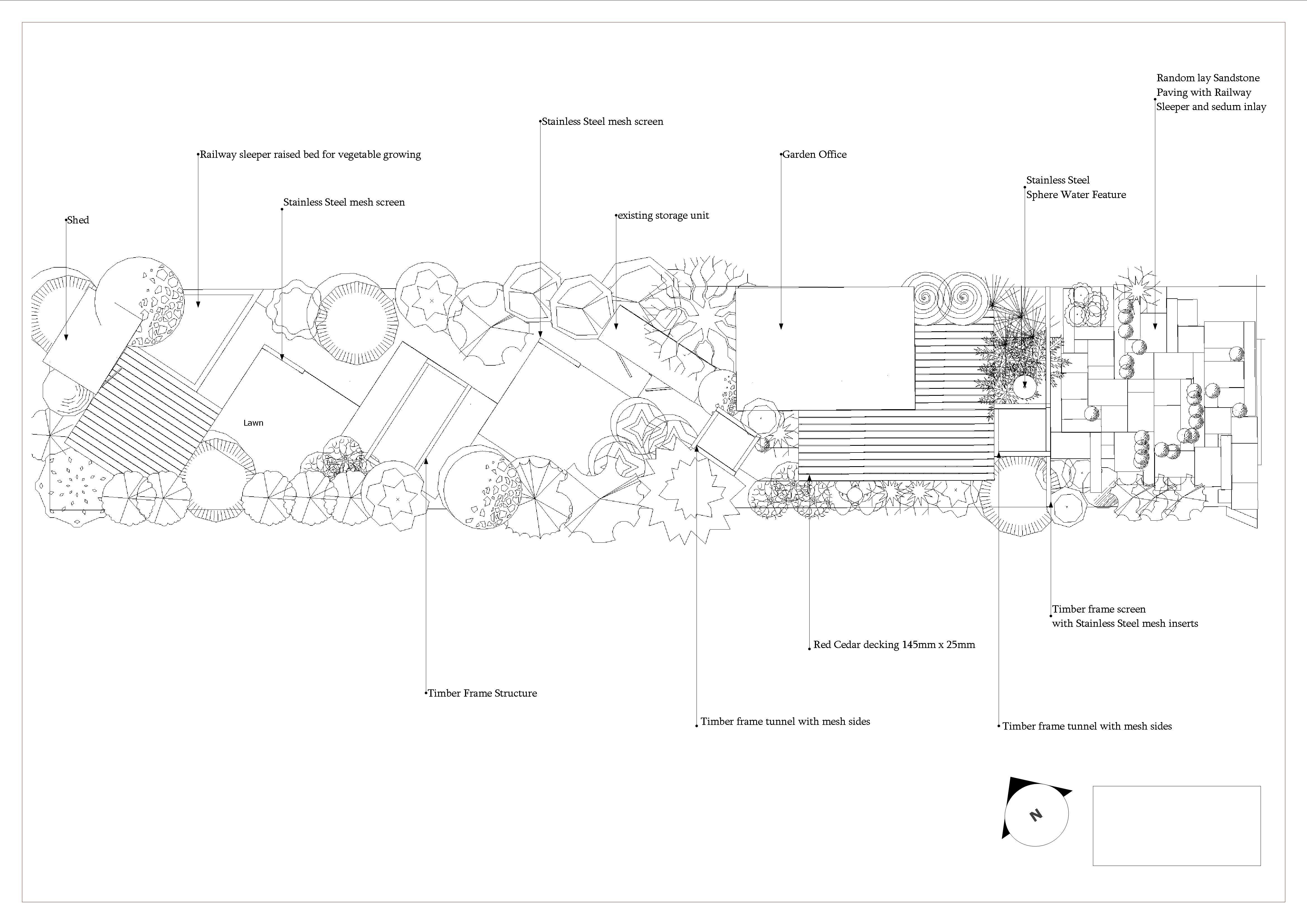 garden design hertfordshire a long thin landscape garden design