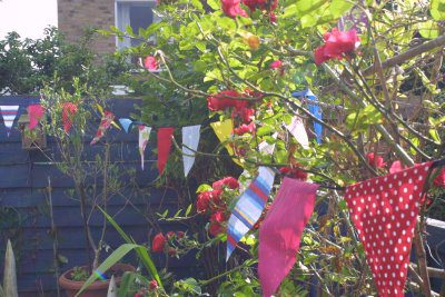 Garden Design Top Tips 8 Using flags banners and bunting in