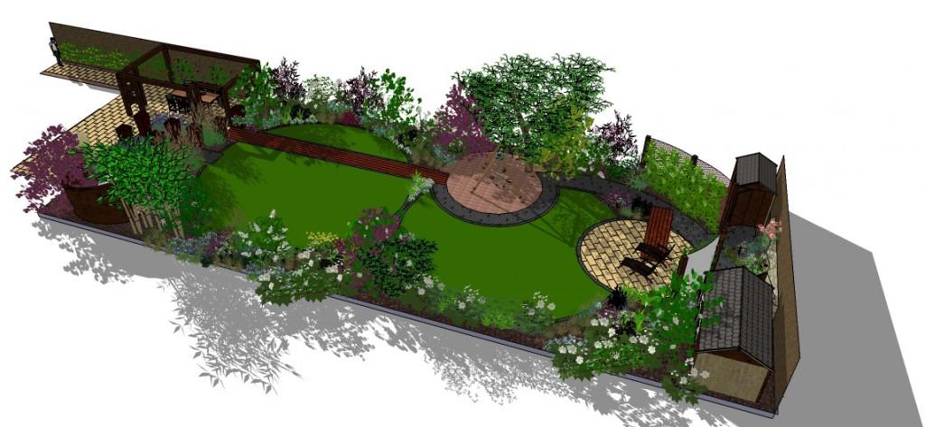 Garden design software sketchup for Sketchup landscape design