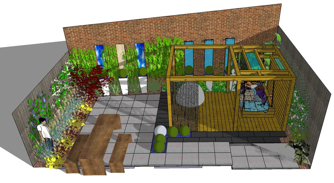 A Stylish Small Family Garden Design In Harlow Essex