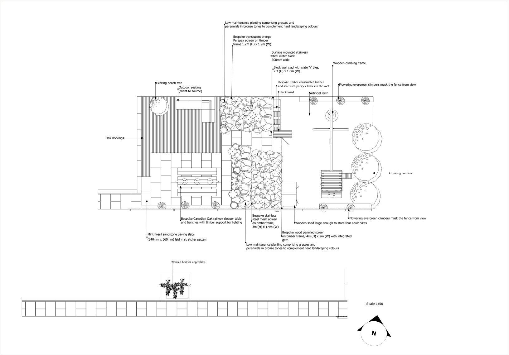 Gabion Wall Design Drawings : London garden design harrow a contemporary urban family