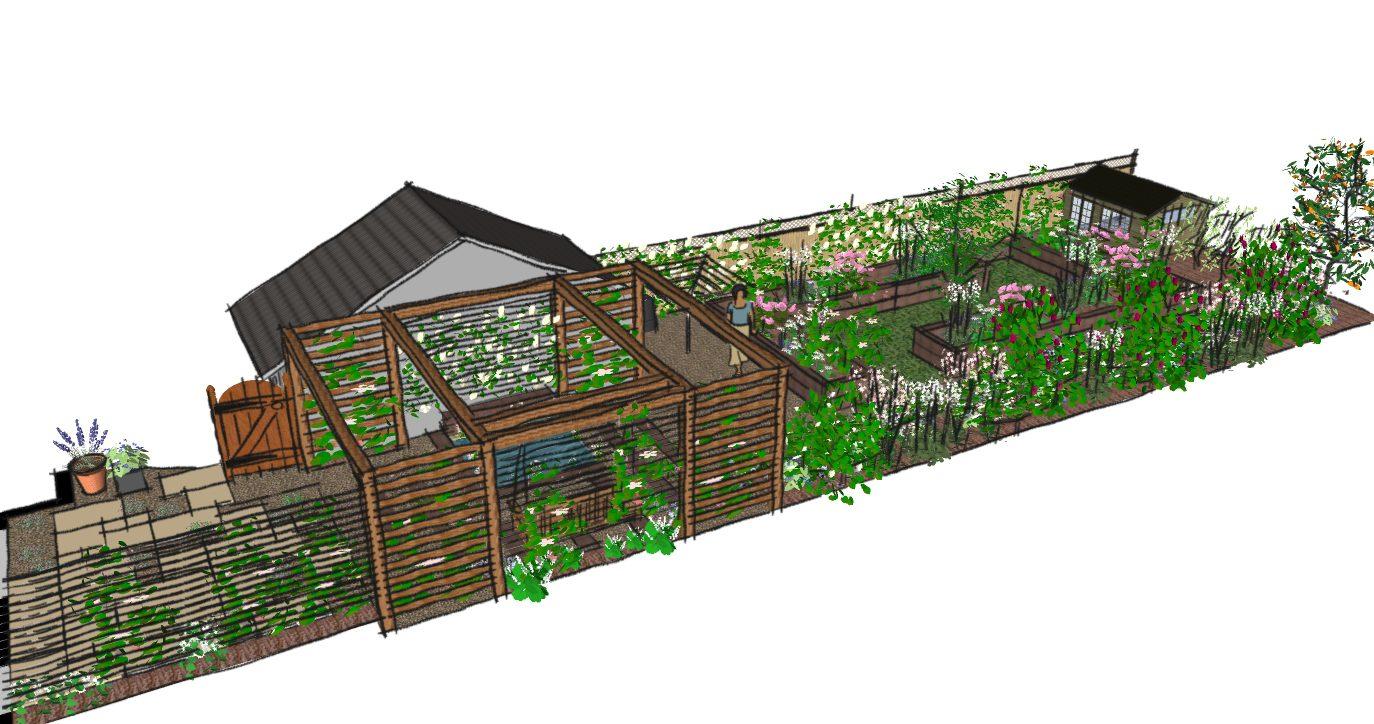 London garden design walthamstow a cottage garden for Landscape design and build