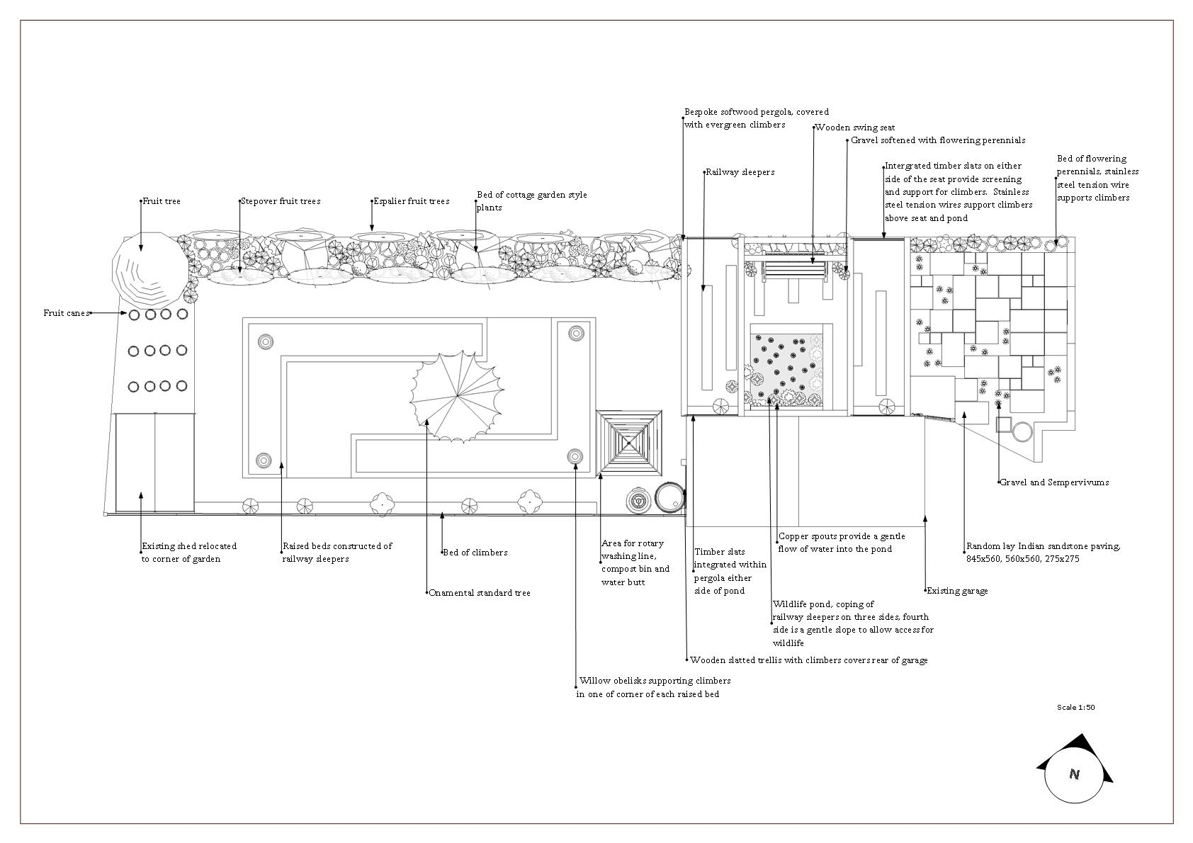 London Garden Design Walthamstow A Cottage Earth Designs Evergreen Wiring Diagram Plan