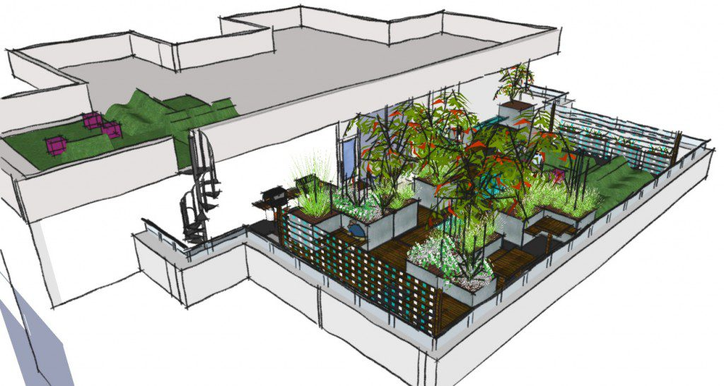 Roof terrace archives earth designs garden design and build for Terrace garden design