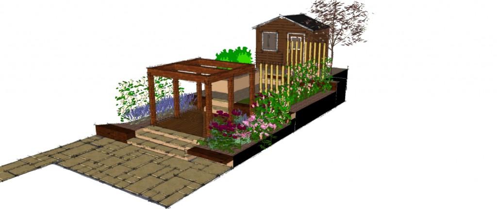 Railway sleeper archives earth designs garden design and for Garden design visualiser
