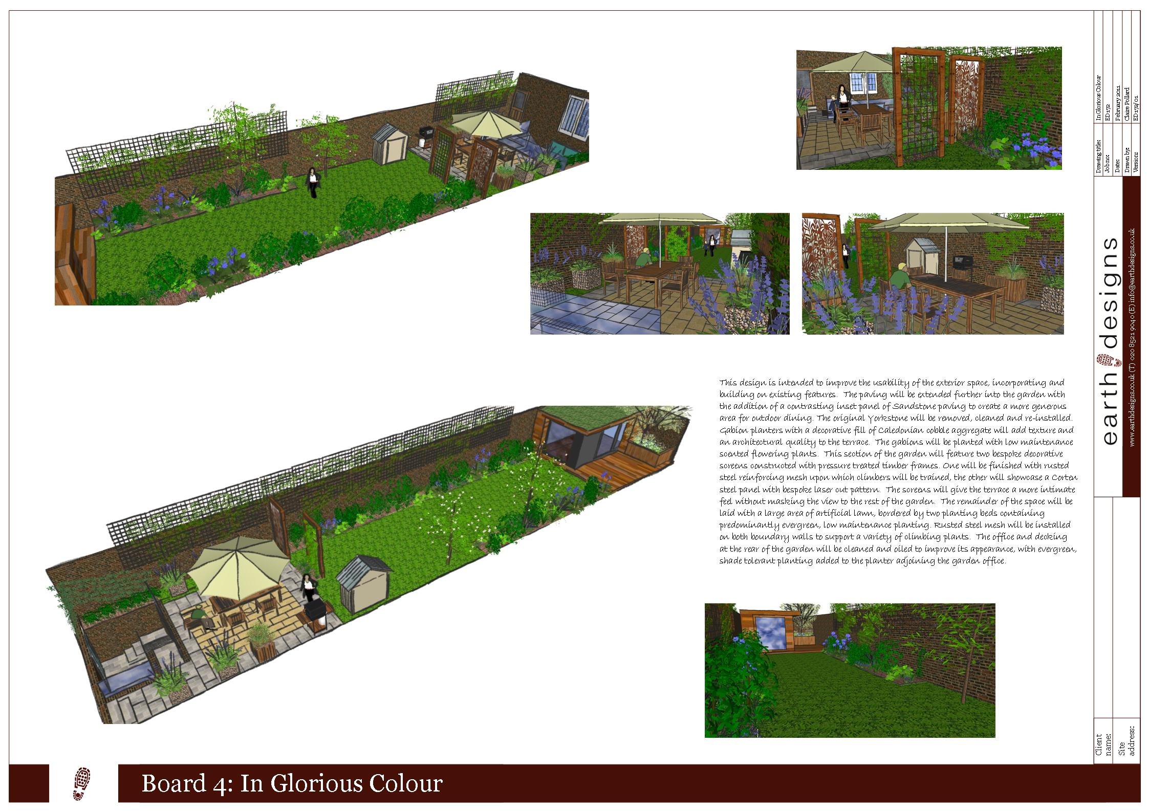 garden design london hackney visual perspectives