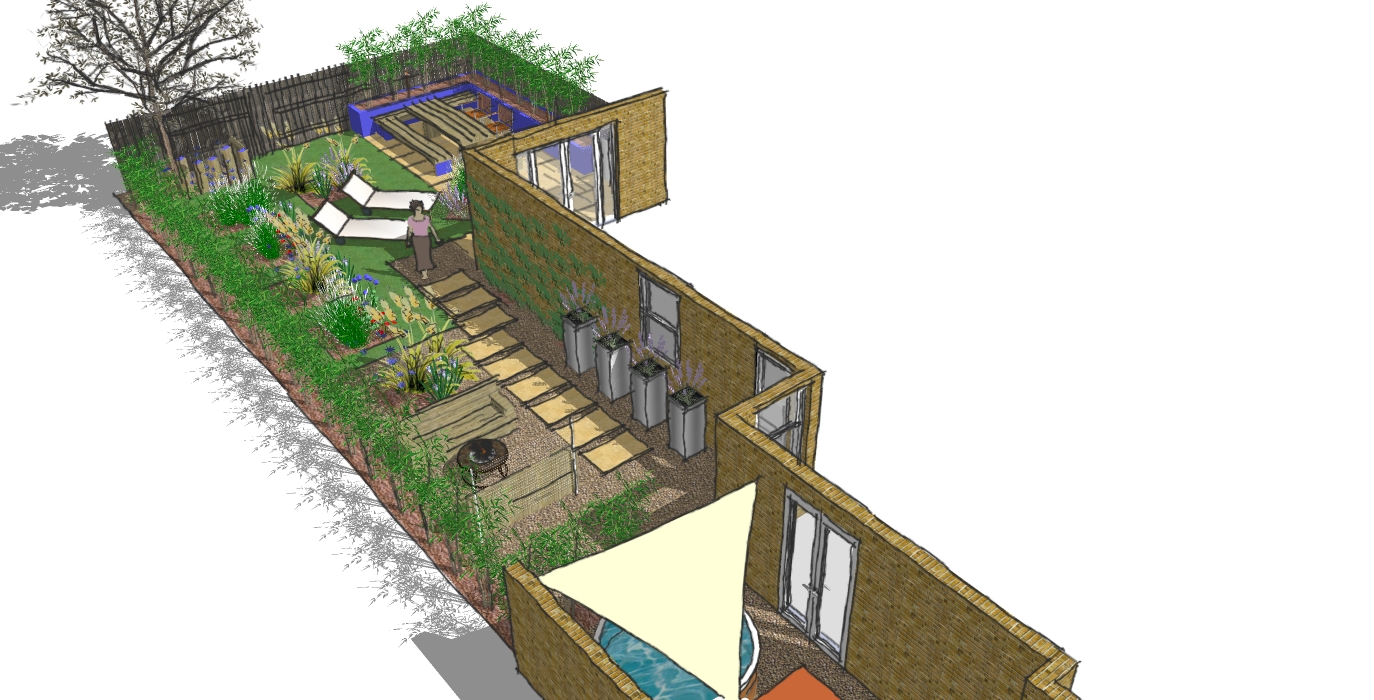 London garden design wanstead a light and airy garden for Landscape design and build