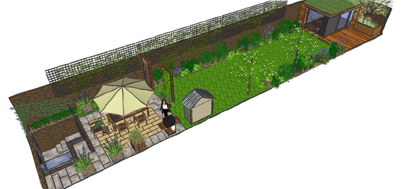 London Garden Design, Hackney: Low Maintenance Family Garden - Earth ...