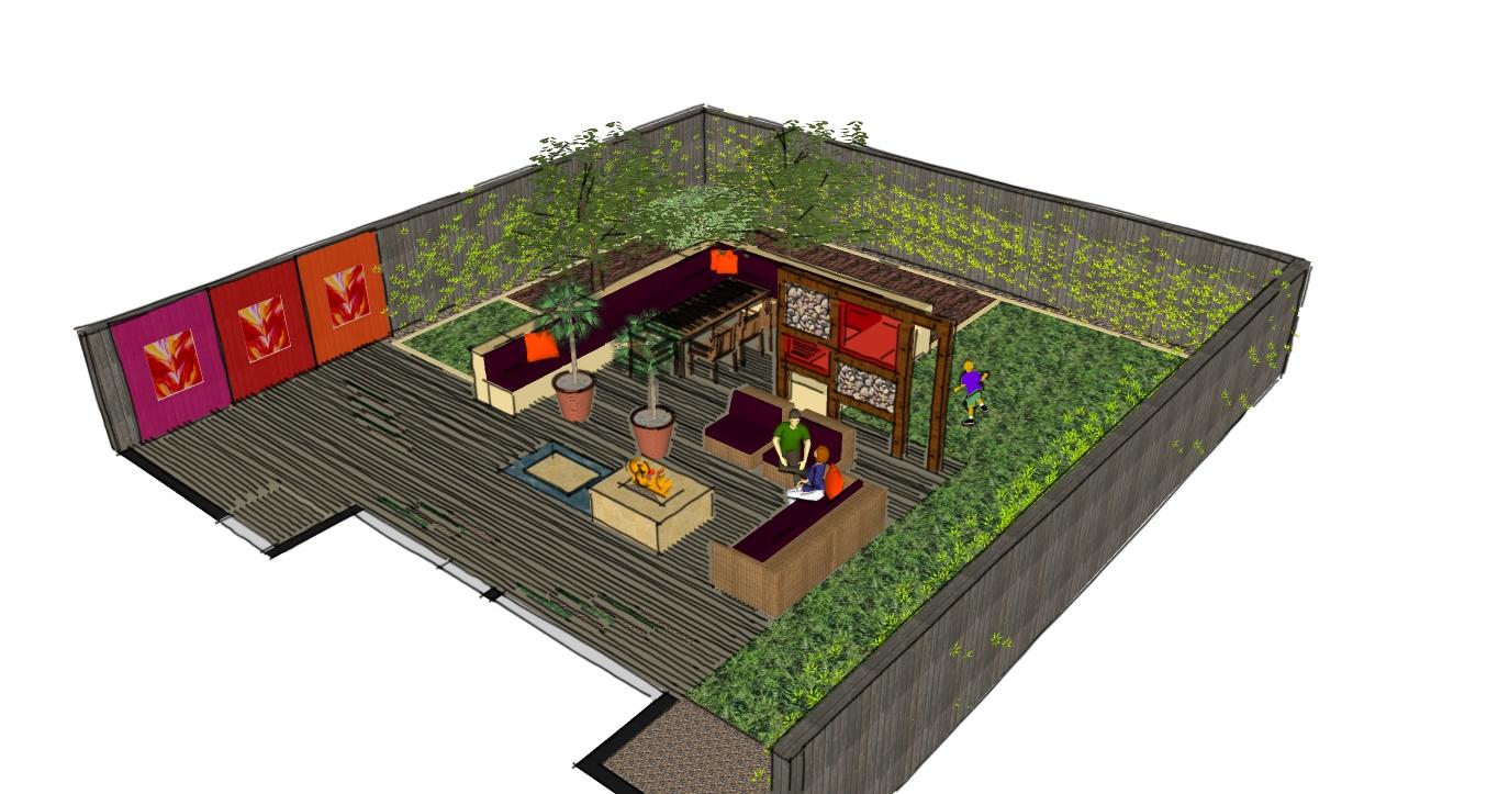 London garden design dulwich a designer garden for a for Landscape design and build