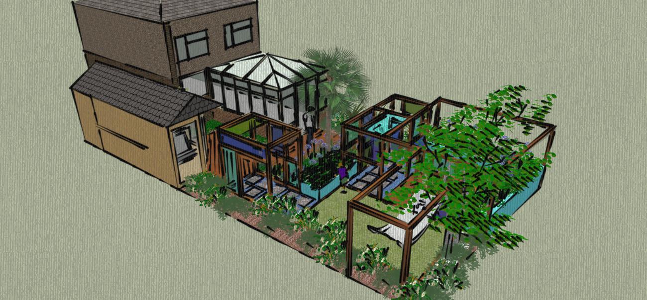 Essex Garden Design Perspex Tive For An Essex Garden