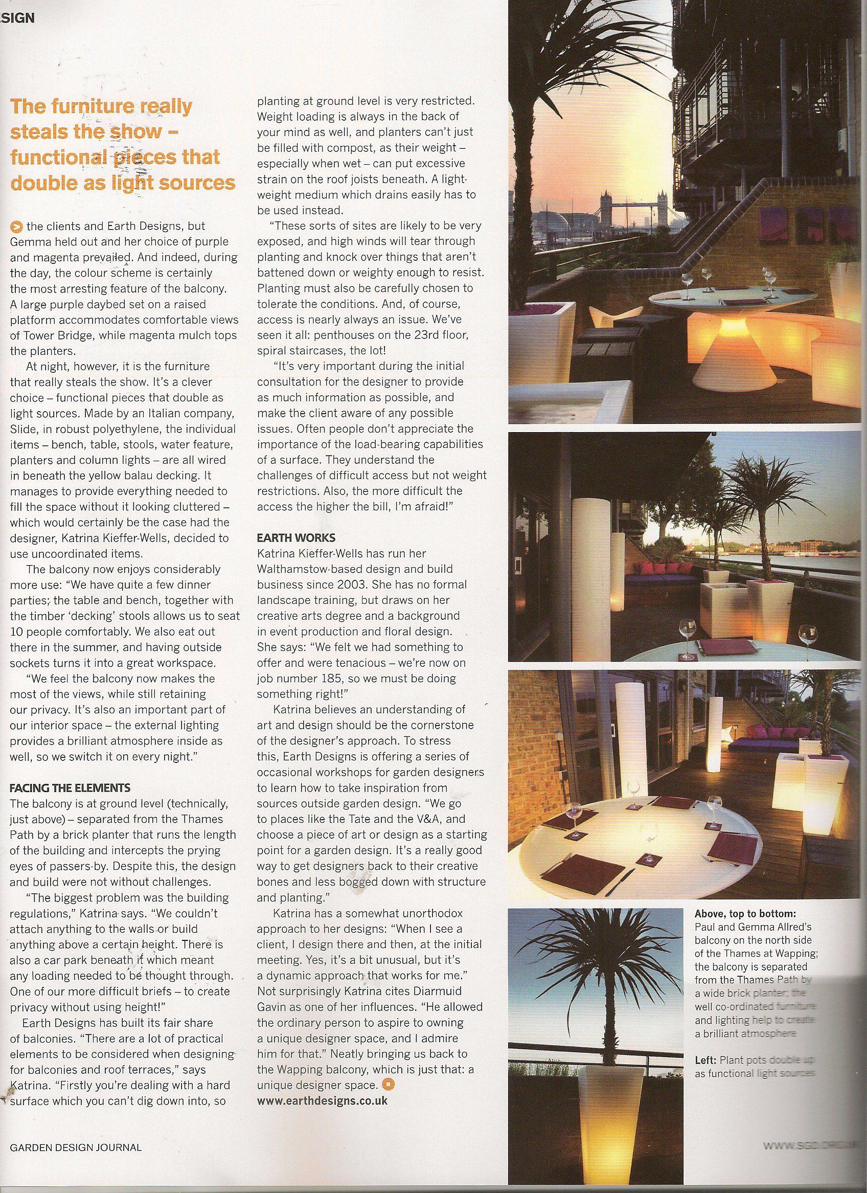 garden design journal article earth designs garden design and build