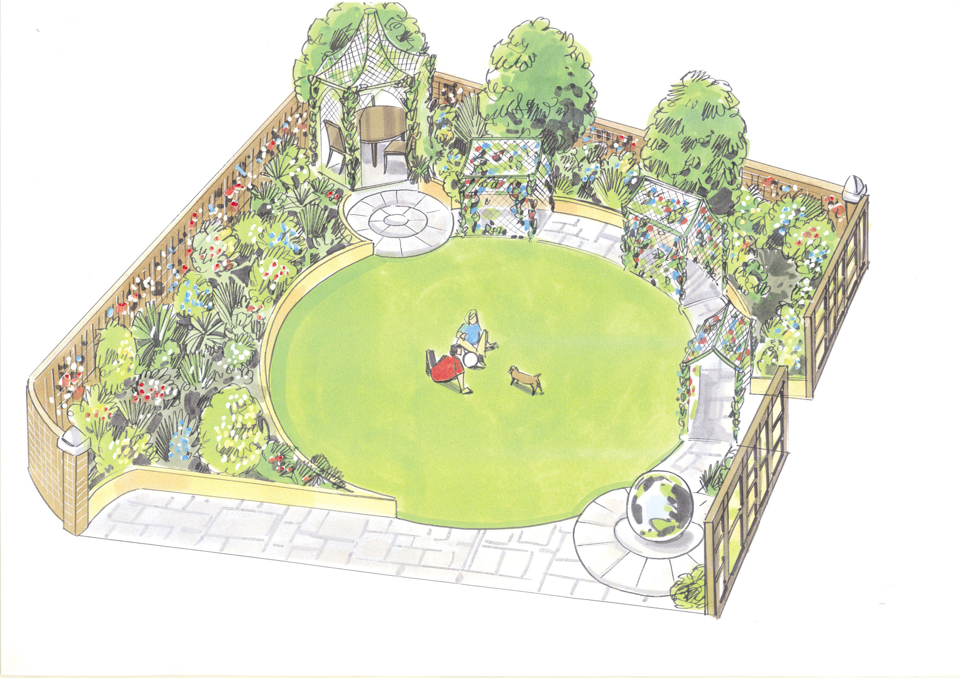 London garden design garden of the month june 2012 for Children friendly garden designs