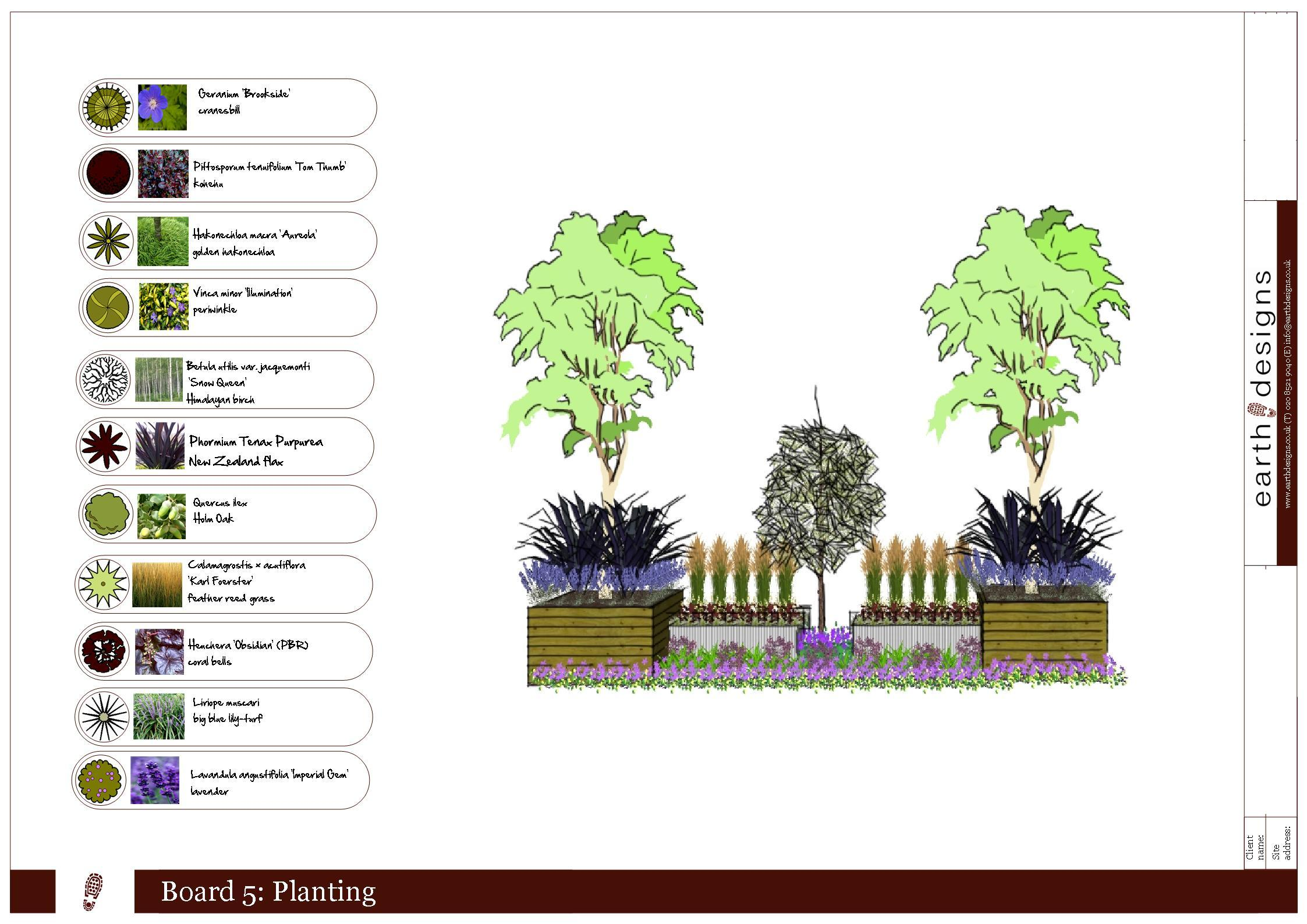 Essex garden design commercial planting scheme for for Garden design planting schemes