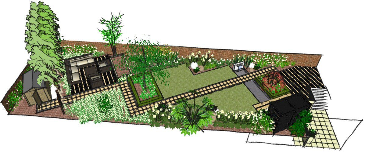Simple japanese garden design home design for Simple japanese garden plans