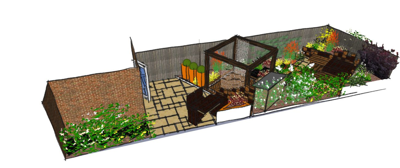 Modern garden design for east london a contemporary for Garden design east london