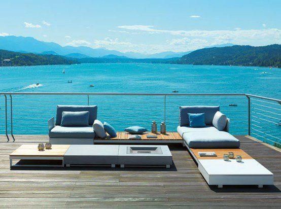 contemporary garden design stylish garden furniture ideas