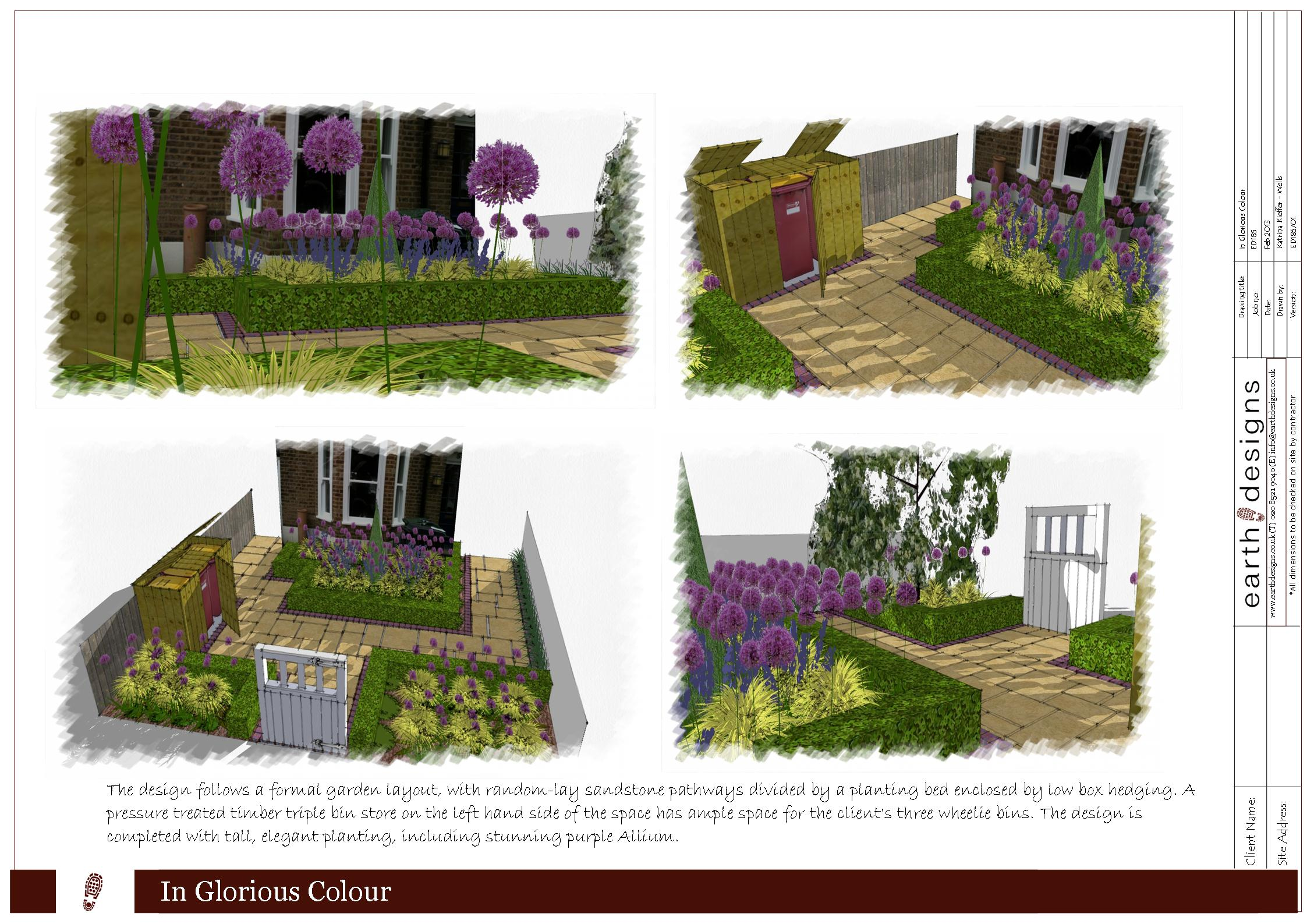Traditional front garden design for east london earth for Small front garden designs uk