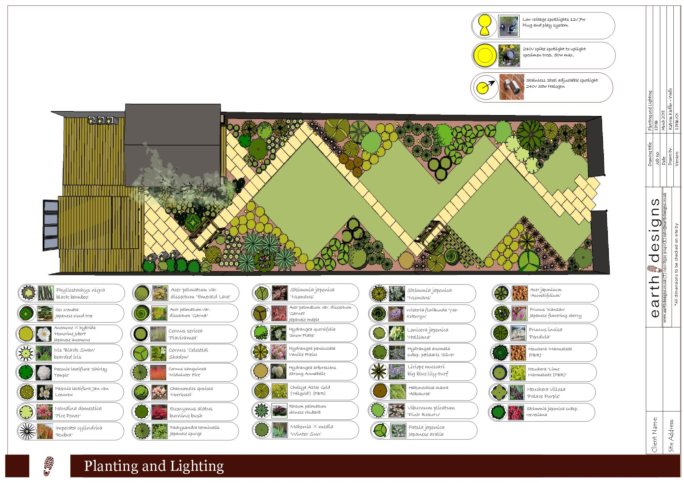 Garden design essex a japanese designed garden in essex for Garden design planting schemes
