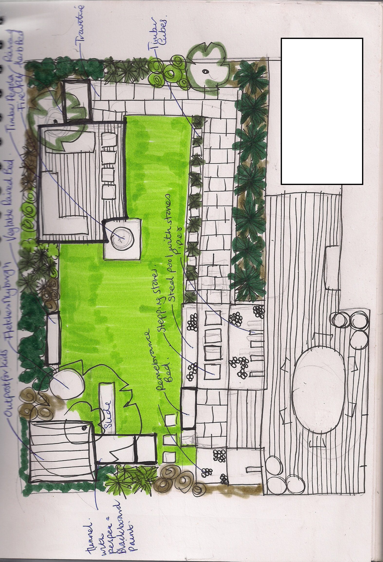 House Garden Design Drawing Images