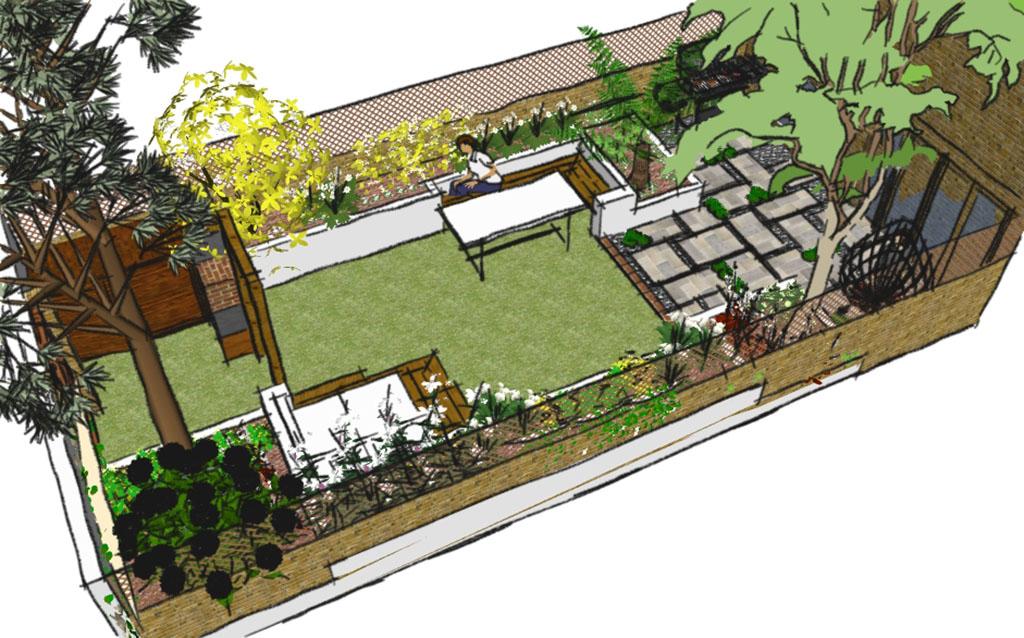 Garden design images garden design creating a tuscan for Garden design east london