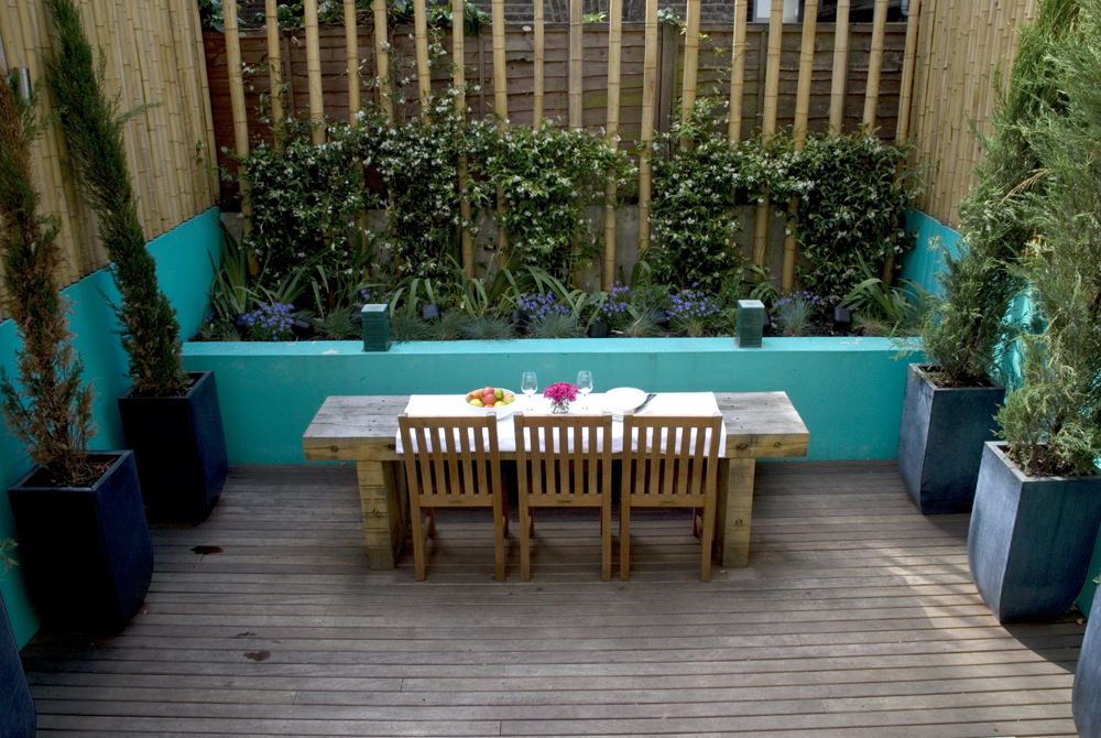 Decked roof garden design Chelsea London Earth Designs Garden