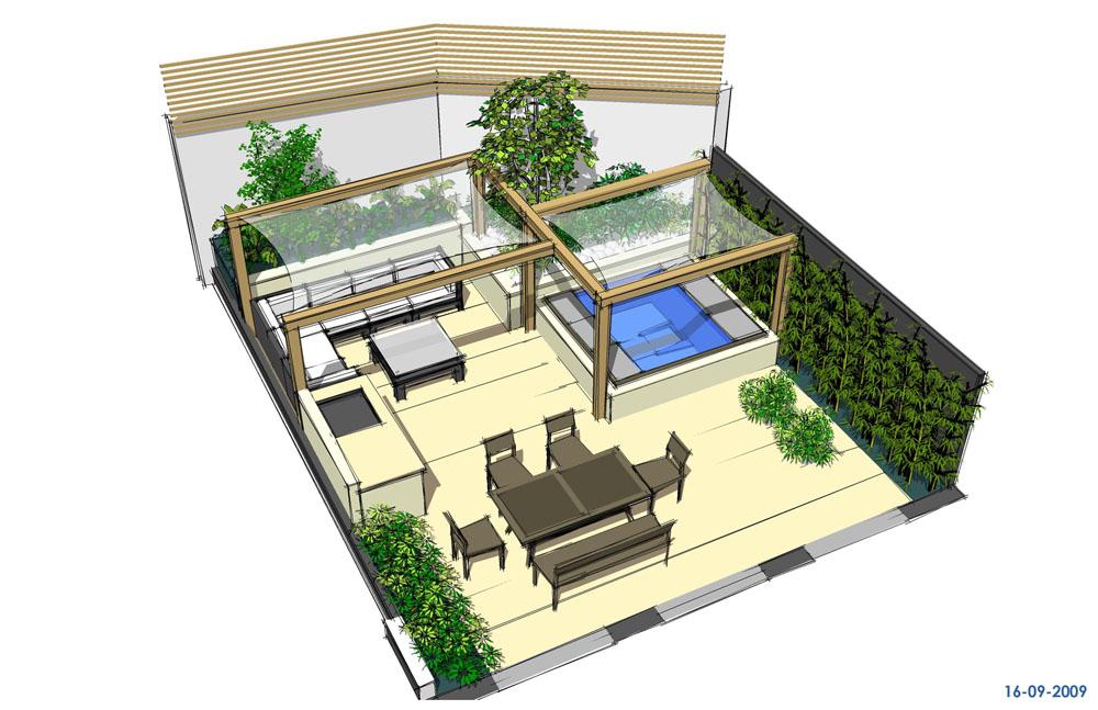 drawing garden design north london