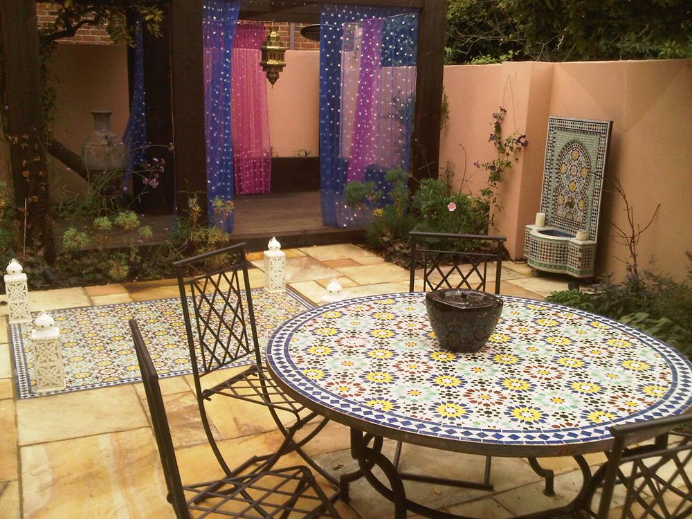 moroccan garden furniture. Moroccan Garden Design Greenwich London - Earth Designs And Build Furniture