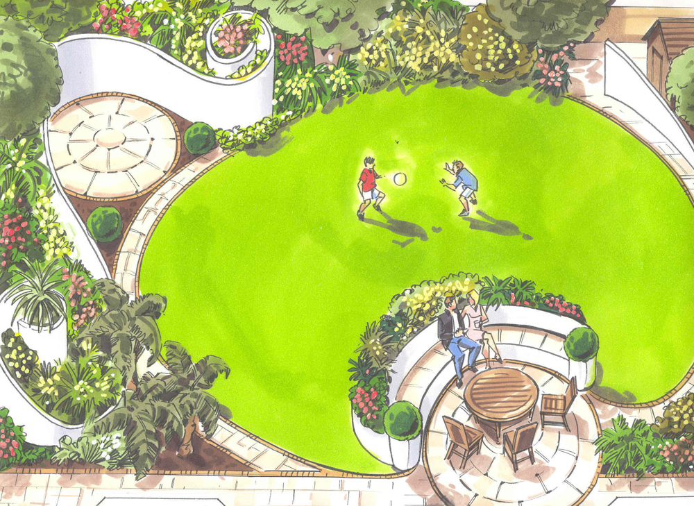 Drawing Plan. Final Drawing. Garden Design Luxury Fascinating