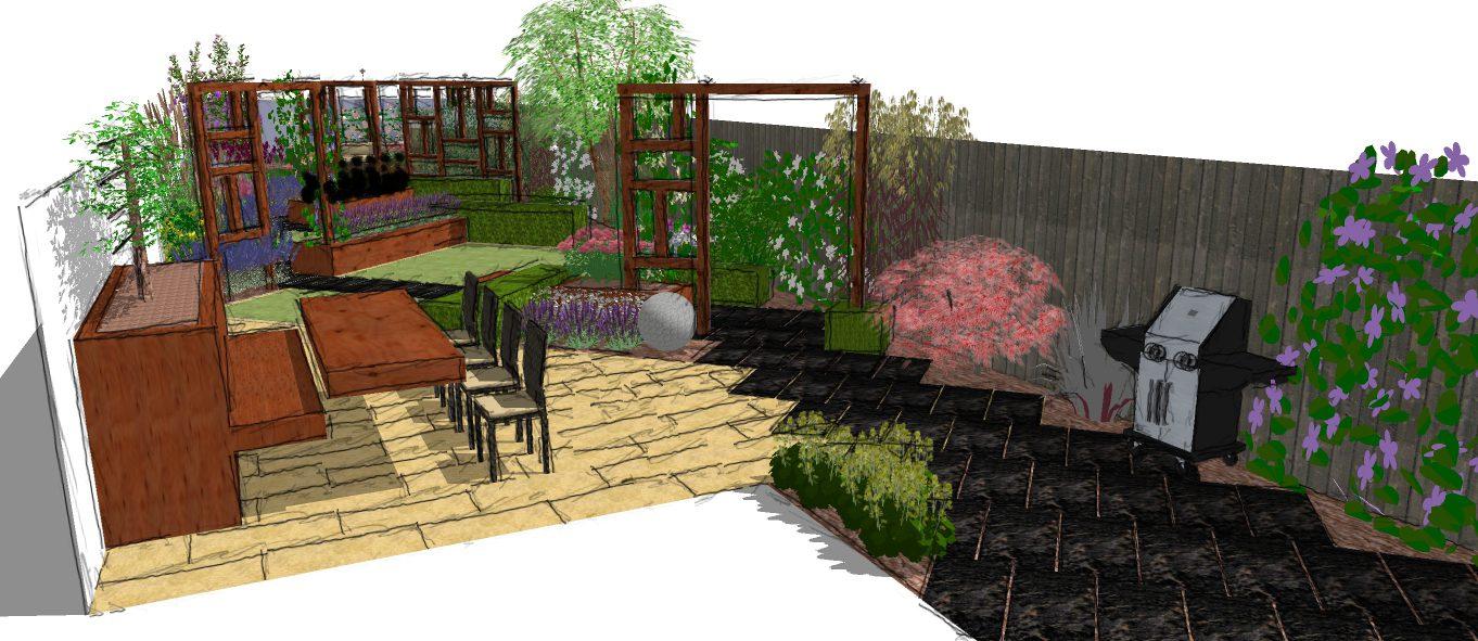 A Modern Garden Design In Essex A Garden With Depth