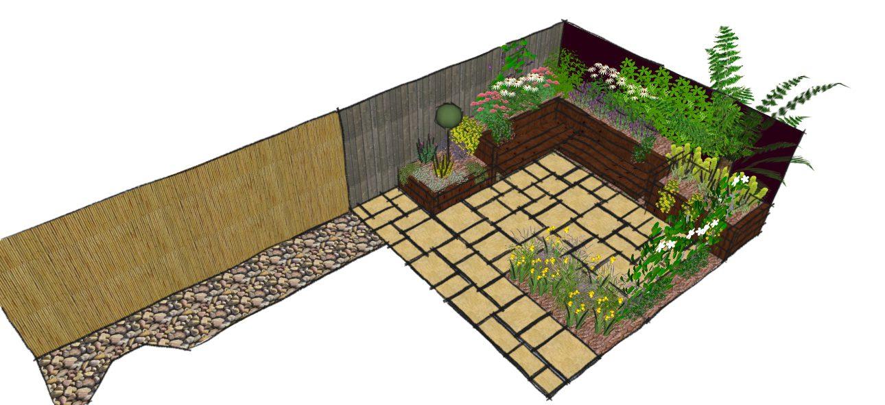 Modern town garden design east london earth designs garden design