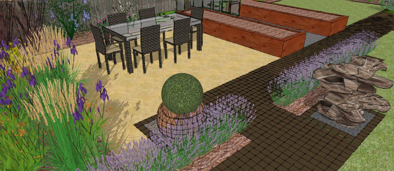 Visual 3 earth designs garden design and build for Garden design visualiser
