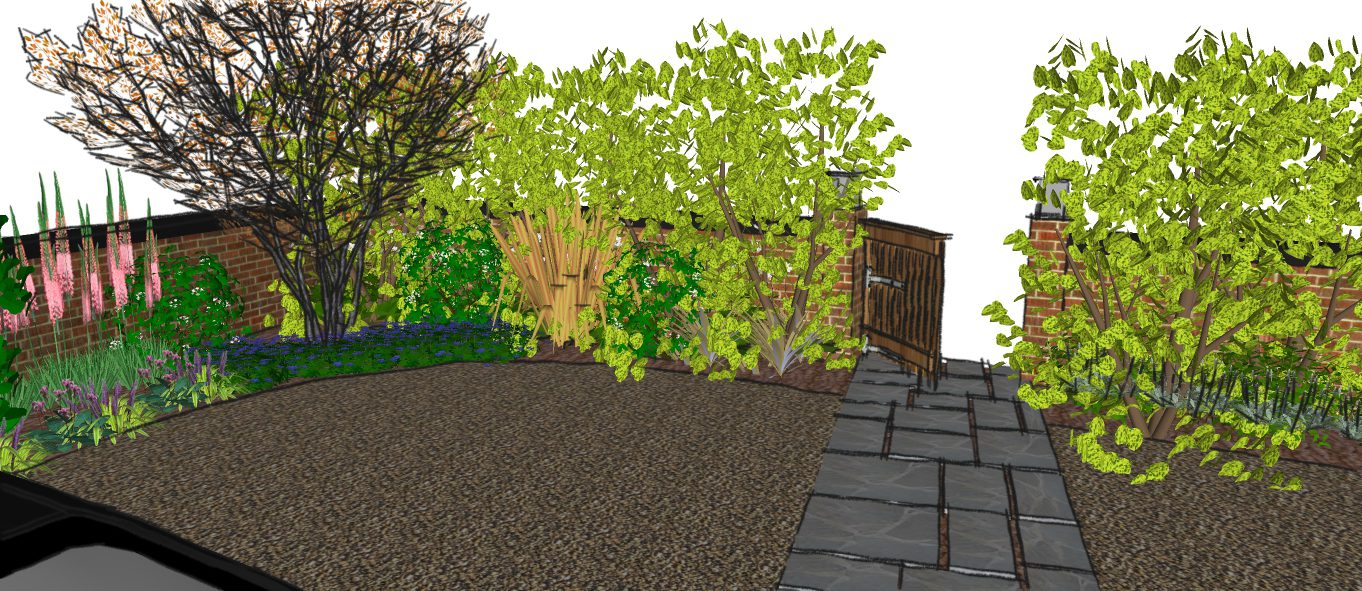 Ed220 front garden visual 7 earth designs garden design for Garden design visualiser