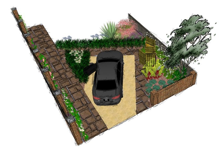 Ed224 front visual 4 earth designs garden design and build for Garden design visualiser
