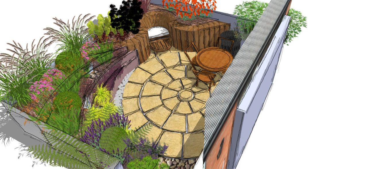 Visual 2 ed226 earth designs garden design and build for Garden design visualiser