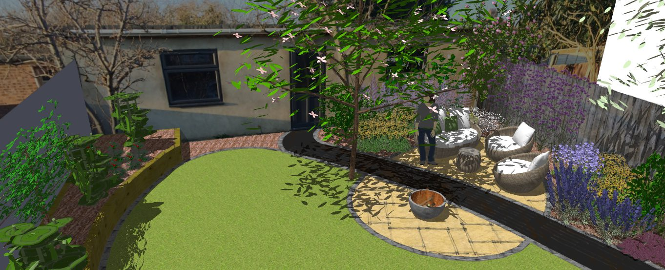 Oval patio earth designs garden design and build for Landscape design and build