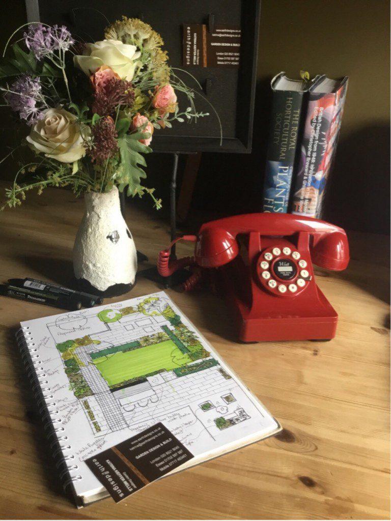 A-sketch-for-a-garden-design-in-Wanstead