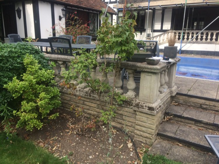 A tired garden in need of a South Woodford garden designer