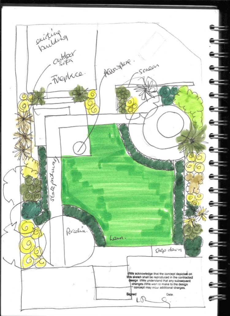 Garden Sketch of ideas for South Woodford