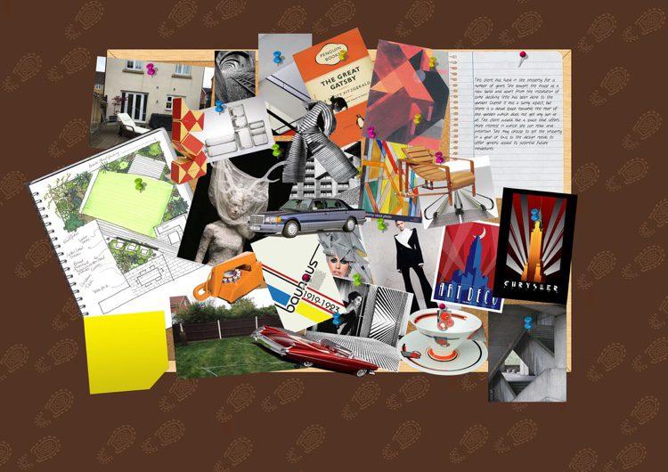 Influences include Penguin books, trimphones and Art Deco adverts
