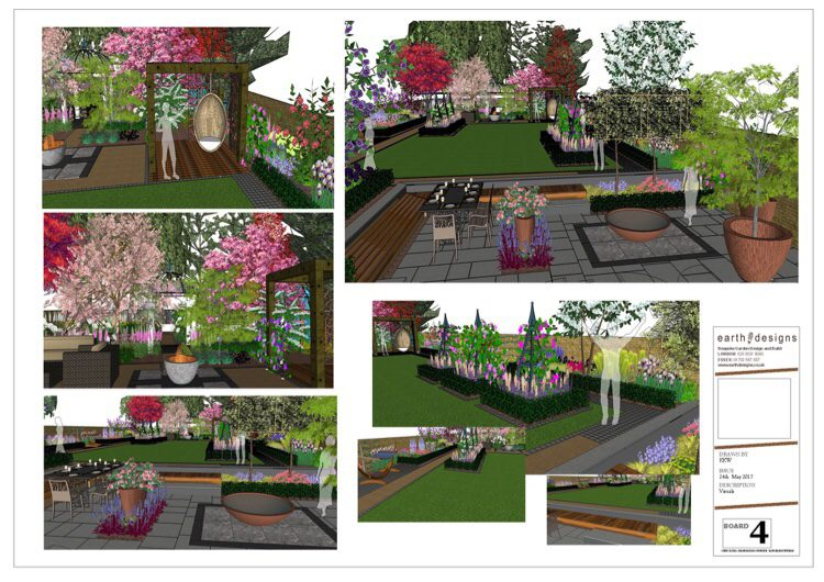 Traditional garden layout with a modern twist