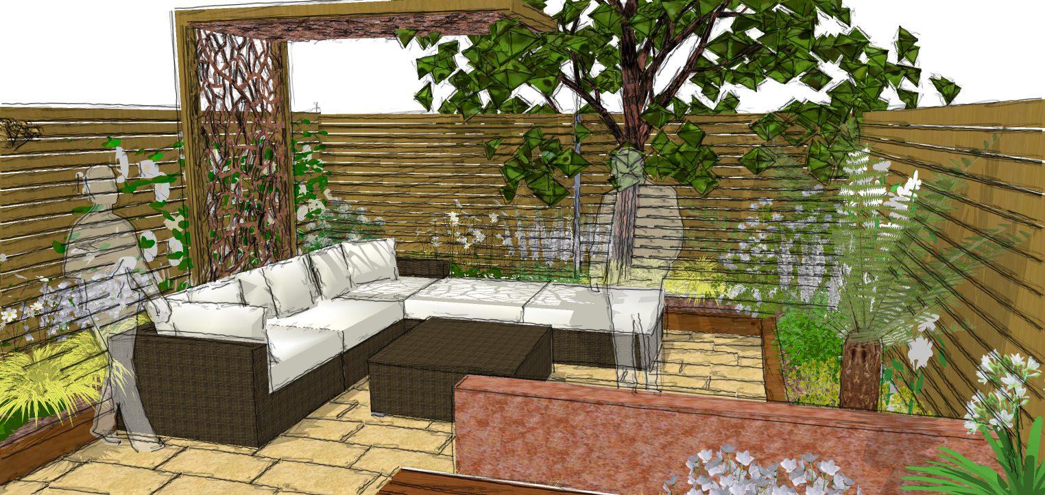 Modern Garden Design Hertfordshire Ornament - Brown Nature Garden ...