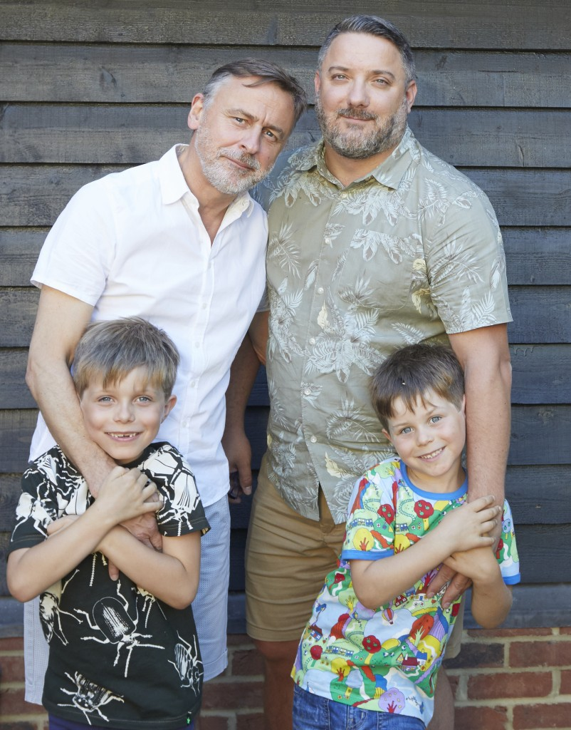 John and Anthony with our sons, their godchildren