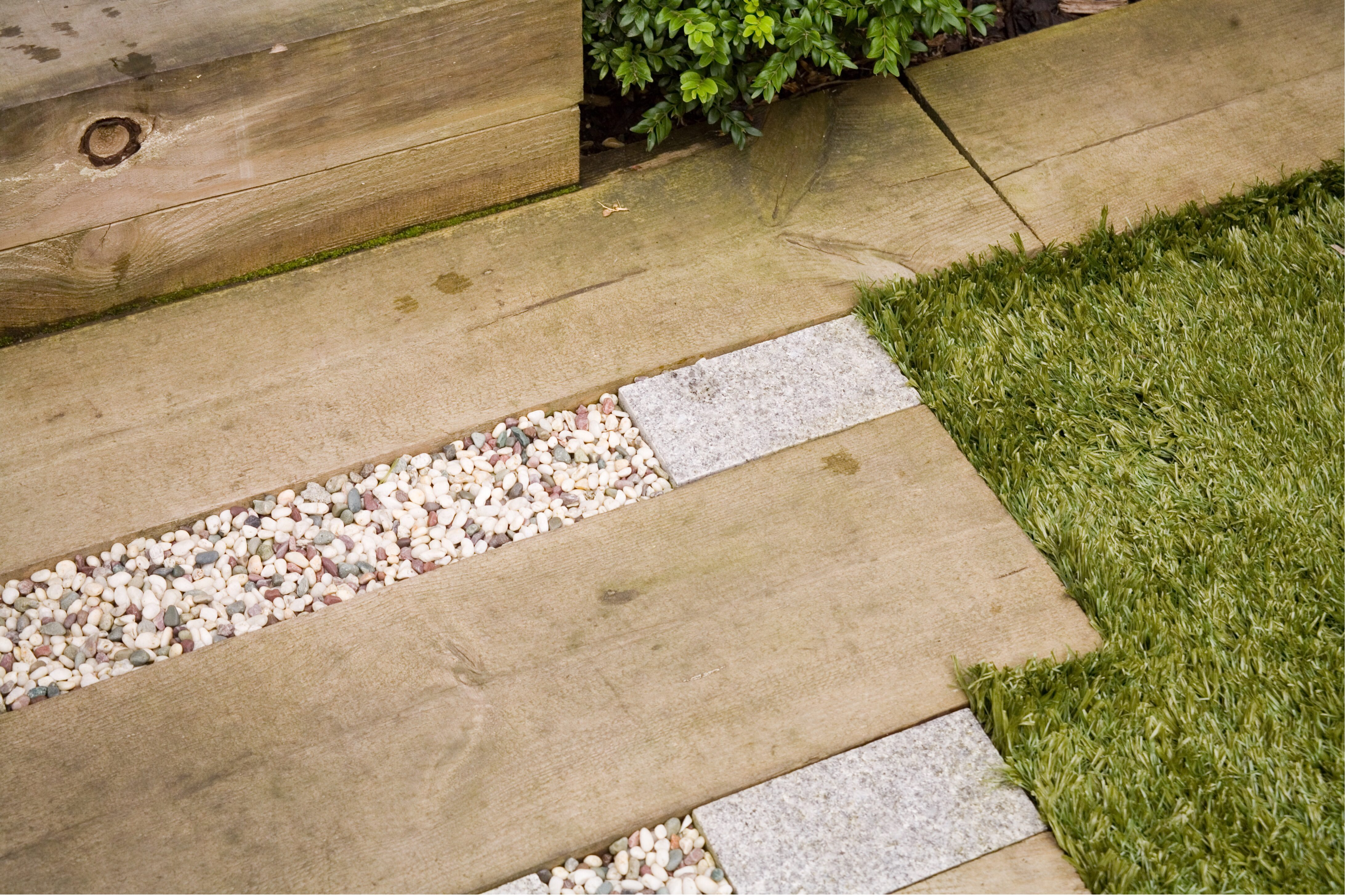 Garden Design Tips Railway Sleepers - can be used on the floor