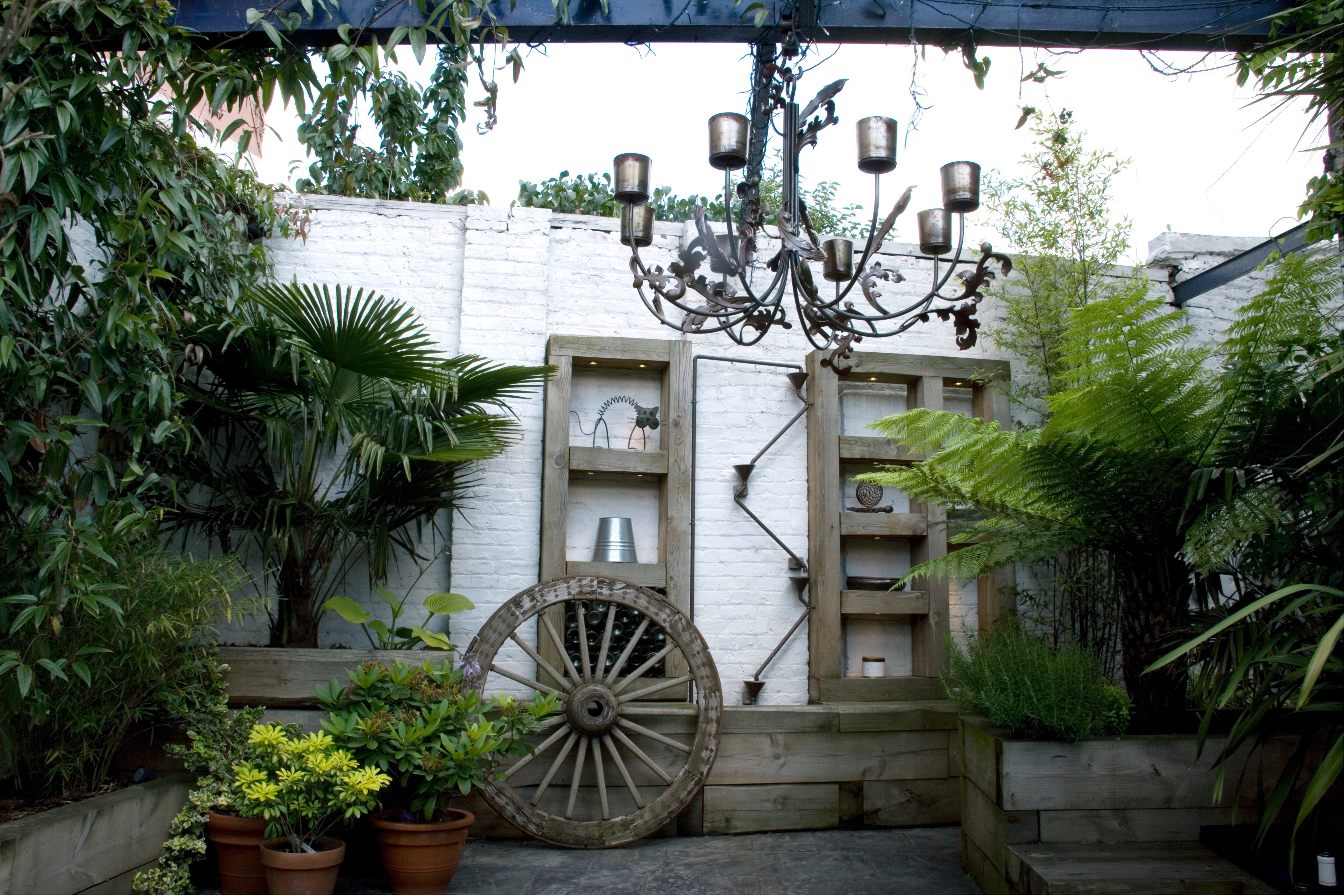 Garden Design Tips Railway Sleepers - can be used for shelving