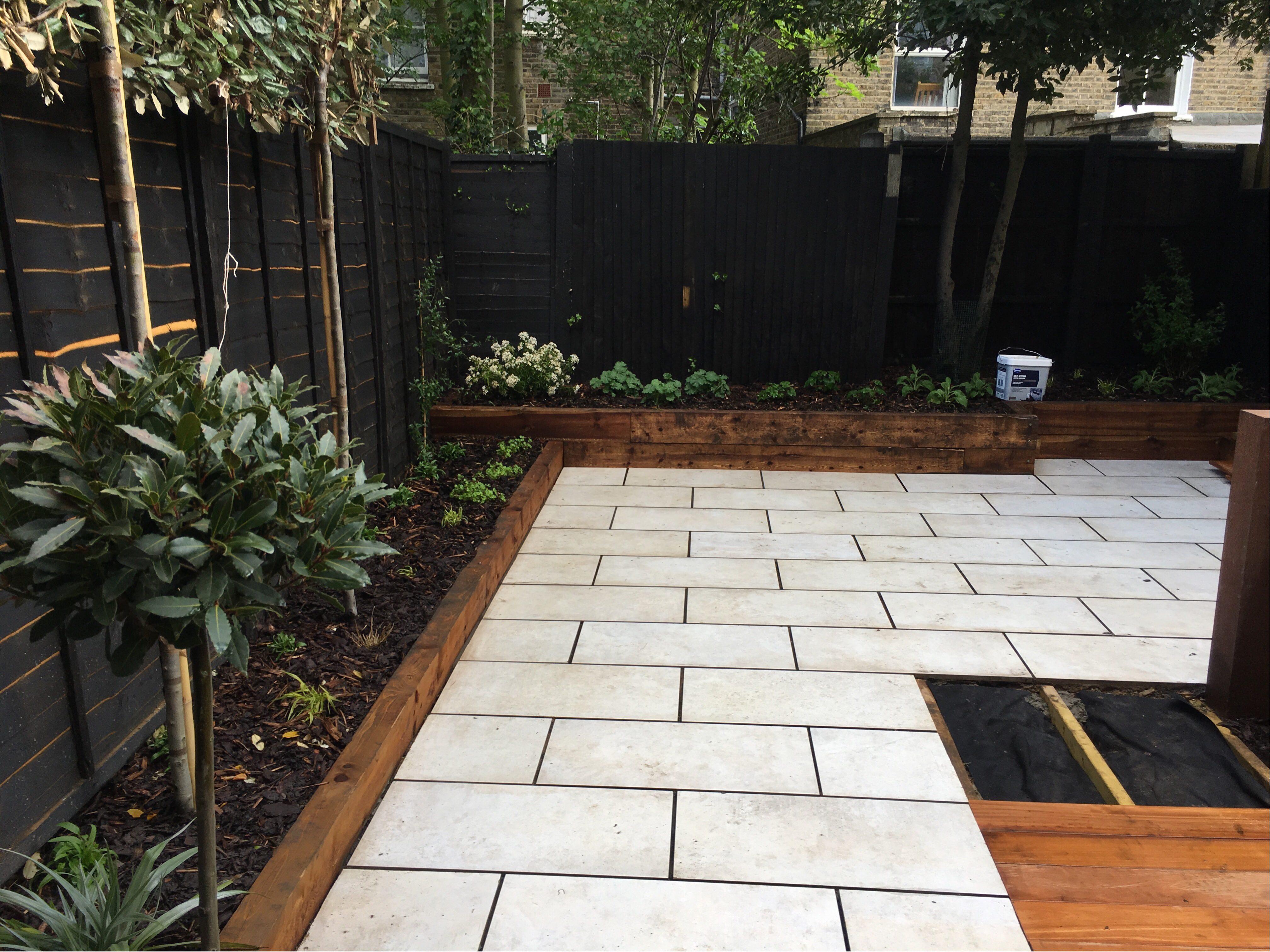 Porcelain as part of your garden paving design