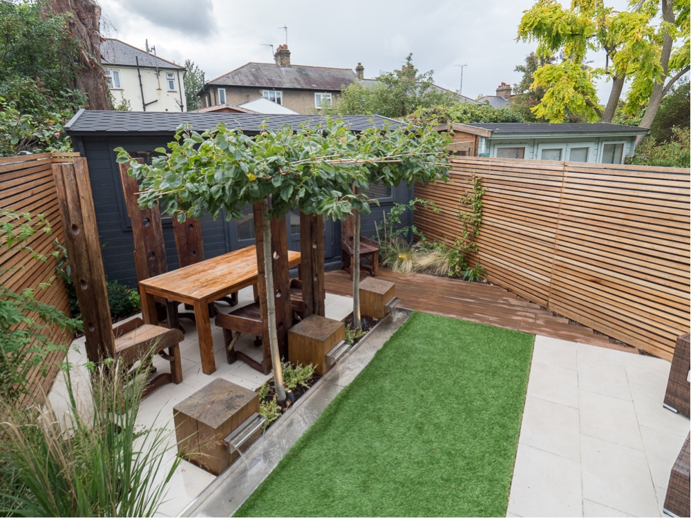 Top tip for small urban gardens - visual trickery