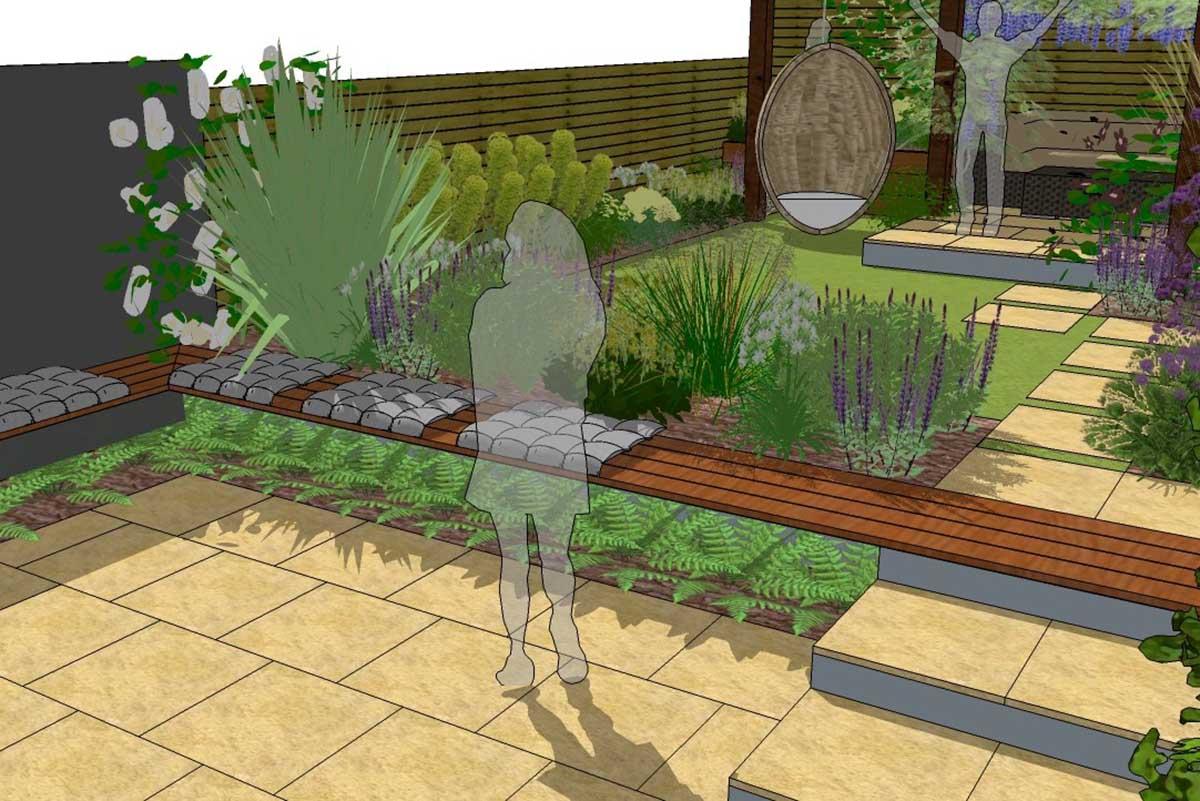 A Multi Level Garden Design Earth Designs Garden Design