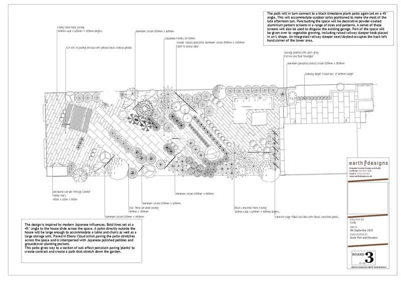 Earth Designs - sketch for Japanese Garden Design
